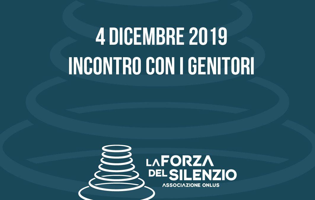 INCONTRO GENITORI – 4 DICEMBRE 2019