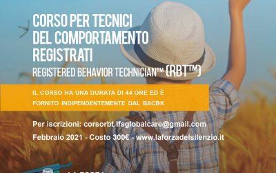 Corso per Tecnici del Comportamento RBT™ 2021